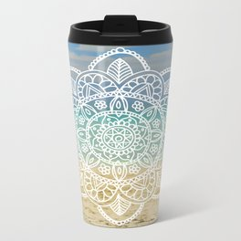 Beach Mandala Metal Travel Mug