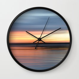 abstract sunset Wall Clock