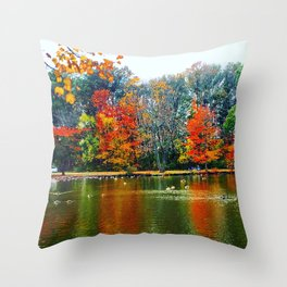Autumn of Our Contentment Throw Pillow