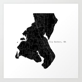 Gig Harbor, WA Art Print