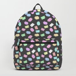 Modern abstract pink teal brushstrokes pattern Backpack