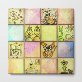 Lunchbox Napkin Art Metal Print