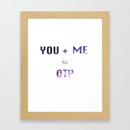 You + Me = OTP Framed Art Print
