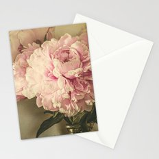 Painted Peonies -- Botanical Still Life Stationery Cards