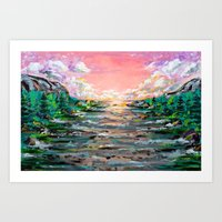 Sunset in Pink Art Print