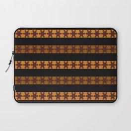 Chocolate And Orange Snowflake Slices Laptop Sleeve