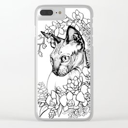 Color-Me Feline: Sphinx Clear iPhone Case