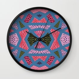 The collage of casual shapes Wall Clock