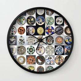 Picasso Ceramic Plates Wall Clock