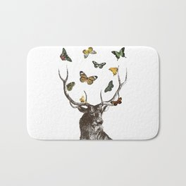 The Stag and Butterflies Bath Mat