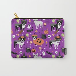 Boston Terrier Halloween - dog, dogs, dog breed, dog costume, cosplay cute dog Carry-All Pouch