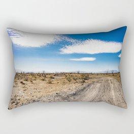 Lonely Dirt Road Cutting through the Barren Desert in the Anza Borrego Desert State Park Rectangular Pillow