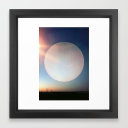 Artificial Moon Framed Art Print