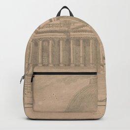 Vintage United States Capitol Building Illustration Backpack