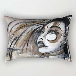 Geisha in Steam: The Hopefull Concubine Rectangular Pillow
