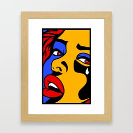 Crying Girl  Framed Art Print