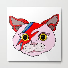 Heroes Cat Head Metal Print