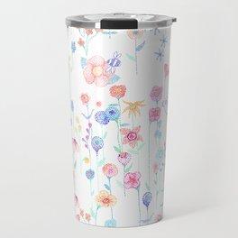Petit Pointillism Blooms Travel Mug