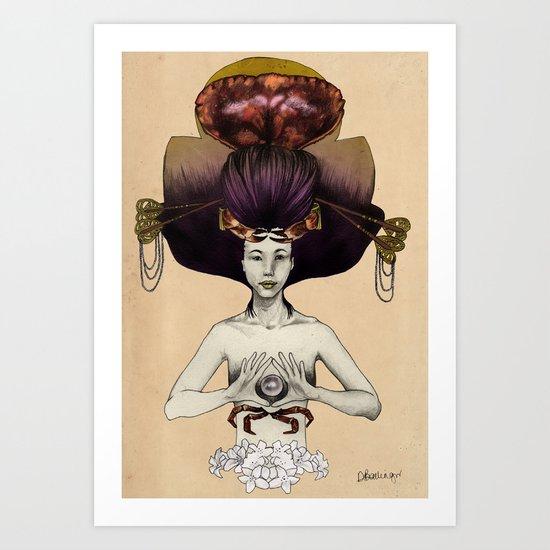 C A N C E R - Colour Version Art Print