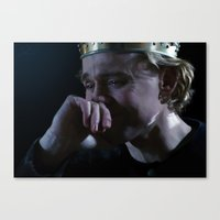 tom hiddleston Canvas Prints featuring Prince Hal - Tom Hiddleston by Kate Dunn