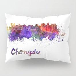 Lagos skyline in watercolor Pillow Sham