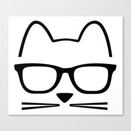 Cat Nerd Canvas Print