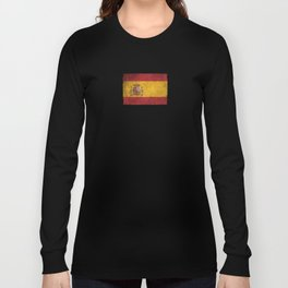 Old and Worn Distressed Vintage Flag of Spain Long Sleeve T-shirt