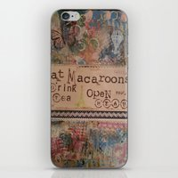 macaroons iPhone & iPod Skins featuring Macaroons by drskippyart