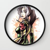rogue Wall Clocks featuring Rogue by Raenyras