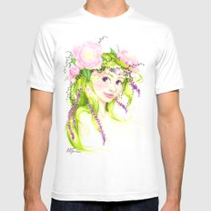 Dryad Mens Fitted Tee White SMALL