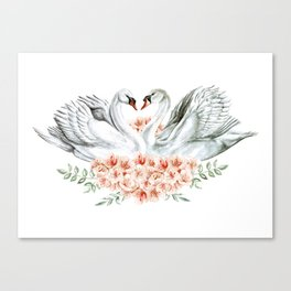 Swan Love Canvas Print