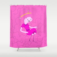 bubblegum Shower Curtains featuring Bubblegum by Tia Hank