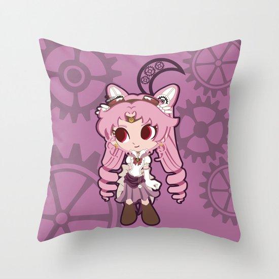 Steampunk Chibimoon - Sailor Moon Throw Pillow