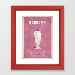 Pulp Fiction - the $5 milkshake Framed Art Print