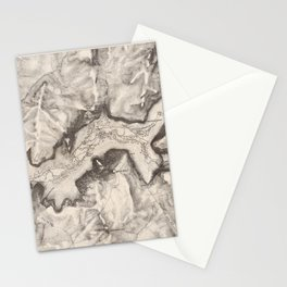 Vintage Map of Yosemite Valley (1870) Stationery Cards
