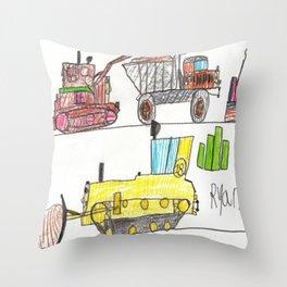 Construction Frenzy Throw Pillow