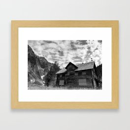 Enchanted Valley Chalet Framed Art Print