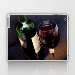 Red  Wine and Wine Glass Photograph Laptop & iPad Skin