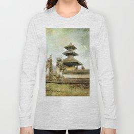 Balinese temple beside lake Long Sleeve T-shirt