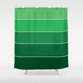 gradation in True Green Shower Curtain