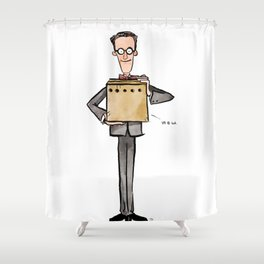 Erwin Schrödinger (and His Cat) Shower Curtain