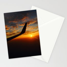 30,000 foot Sunset  Stationery Cards