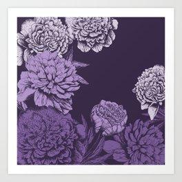 VIOLET FLORAL SYMPHONY Art Print