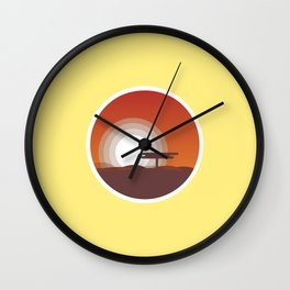 Plain Sunset Wall Clock