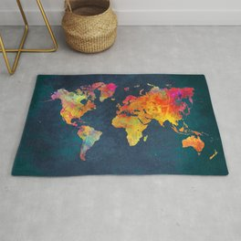 world map colors #map #maps #colors Rug