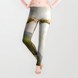 The Creation of Adam Painting by Michelangelo Sistine Chapel Leggings