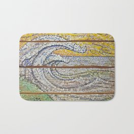 Waves on Grain Bath Mat