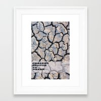 cracked Framed Art Prints featuring Cracked by F. C. Brooks