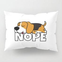 Nope Beagle Pillow Sham