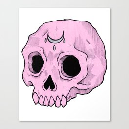 Witchy Skull Canvas Print